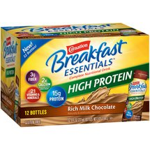 Carnation Breakfast Essentials High Protein Rich Milk Chocolate Complete Nutrition Drink