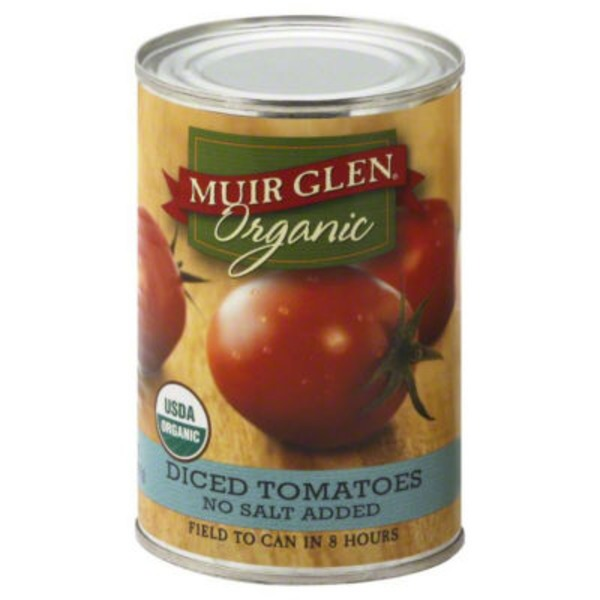 Muir Glen Organic Diced No Salt Added Tomatoes