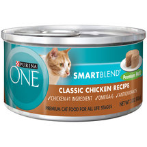 Purina ONE SmartBlend Wet Premium Cat Food Classic Chicken Recipe Premium Pate