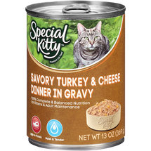 Special Kitty Savory Turkey & Cheese Dinner In Gravy Cat Food