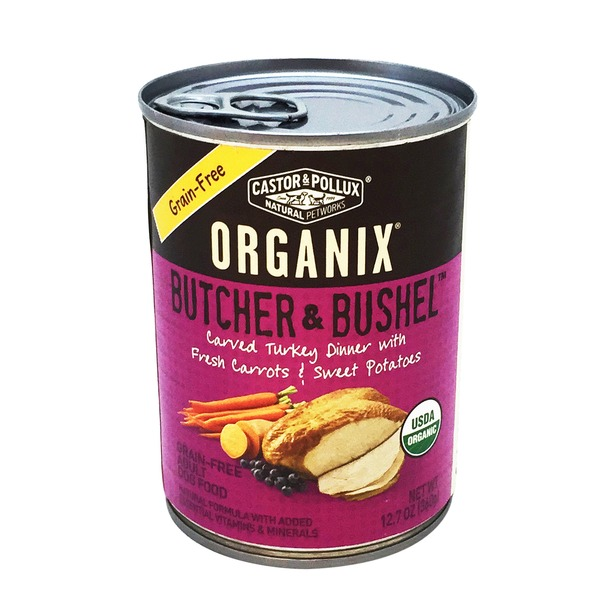Castor & Pollux Organix Butcher & Bushel Grain-Free Turkey Dinner Canned Dog Food