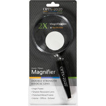 Optx 20/20 Double Strength Bifocal Lens Magnifier