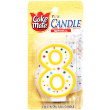 Cake Mate Numeral Candle #8