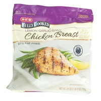 H-E-B Fully Cooked Lemon Garlic Grill Chicken Breast With Rib Meat