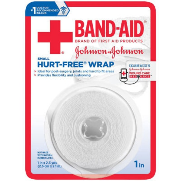 Band Aid® Brand Of First Aid Products J&J Band-Aid FA 1 In. X 2.3 Yd Hurt-Free Wrap First Aid Tapes Wrap