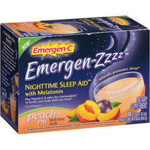 Emergen-C Emergen-Zzzz Nighttime Sleep Aid Peach PM Dietary Supplement Drink Mix