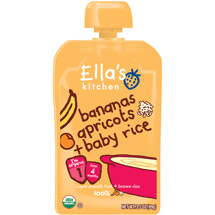 Ella's Kitchen Bananas Apricots + Baby Rice Stage 1 Baby Food