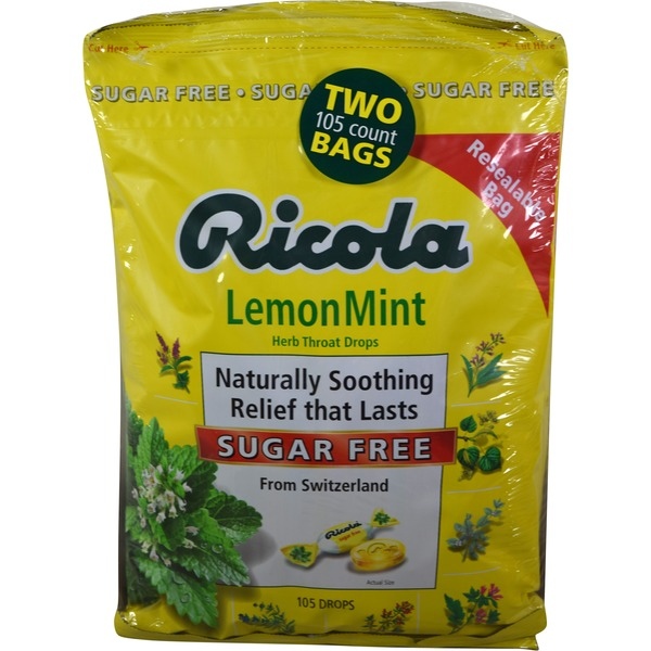 Ricola Sugar Free Lemon Mint Drops