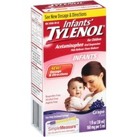 Infant's Tylenol®' Oral Suspension Pain Reliever/Fever Reducer, Grape Flavor
