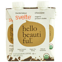 CalNaturale Svelte Chocolate Organic Protein Drink 4 pk
