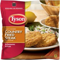 Tyson Frozen Breaded Fully Cooked Country Fried Steak