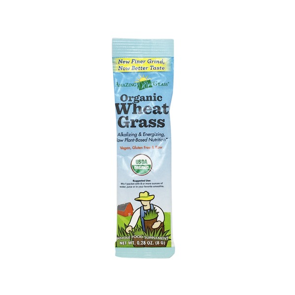 Amazing Grass Organic Wheat Grass Single Pack Drink Powder
