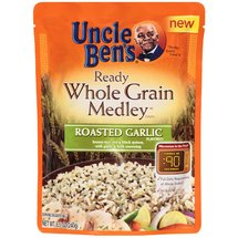 Uncle Ben's Roasted Garlic Ready Whole Grain Medley Pouch