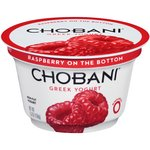 Chobani Greek Yogurt Raspberry on the Bottom Non-Fat Yogurt