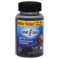 One A Day VitaCraves Men Gummies Multivitamin/Multimineral Supplement