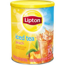 Lipton Summer Peach Sugar Sweetened Iced Tea Mix