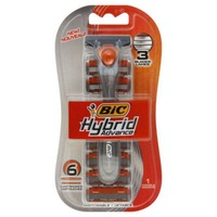 BiC Hybrid 3 Comfort Handle/Cartridges - 6 CT