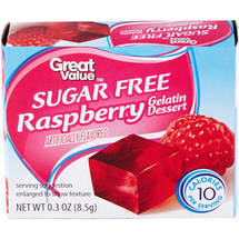 Great Value Sugar Free Raspberry Gelatin Dessert