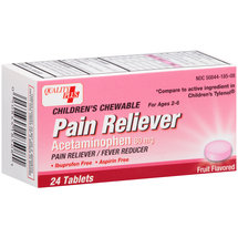Equate Acetaminophen Pain Reliever/Fever Reducer Fruit Flavored Children's Chewable Tablets