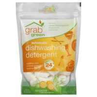 GG Grab Green Automatic Dishwashing Detergent Pods Tangerine with Lemongrass - 24 CT