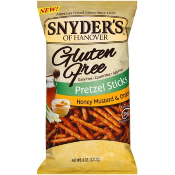 Snyder's of Hanover Gluten Free Honey Mustard & Onion Pretzel Sticks
