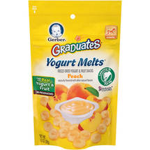 Gerber Graduates Yogurt Melts Freeze-Dried Yogurt and Fruit Snacks Peach Naturally Flavored with Other Natural Flavors