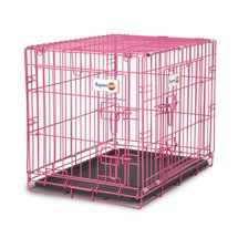 Aspen Pet Puppy 2-Door Training Crate Pink
