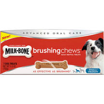 Milk-Bone Brushing Chews Small/Medium Daily Dental Dog Treats 7 ct Box