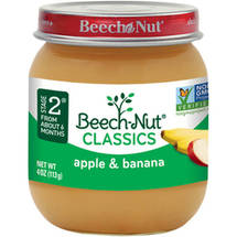 Beech Nut Apples & Bananas Stage 2 Baby Food