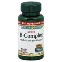 Nature's Bounty Vitamin Tablets Super B-Complex with Folic Acid plus Vitamin C and Biotin - 150 CT