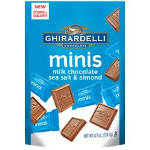 Ghirardelli Minis Milk Chocolate Sea Salt & Almond Candies