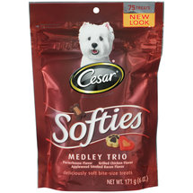 Cesar Canine Cuisine Softies Dog Treats Medley Trio