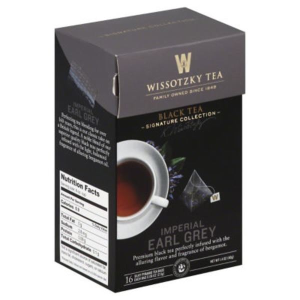 Wissotzky Tea Imperial Earl Grey Black Tea Bags
