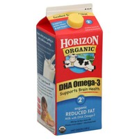 Horizon Organic Reduced Fat 2% Milk with DHA Omega-3