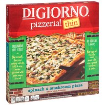 DiGiorno Pizzeria! Thin Spinach & Mushroom Pizza