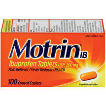 Motrin Coated Caplets IB Pain Reliever/Fever Reducers.
