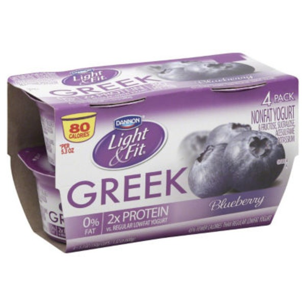 Dannon Light & Fit Greek Blueberry Greek Yogurt