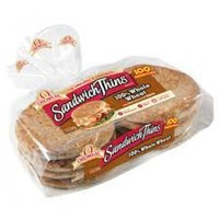 Arnold Sandwich Thins 100% Whole Wheat Rolls - 8 CT
