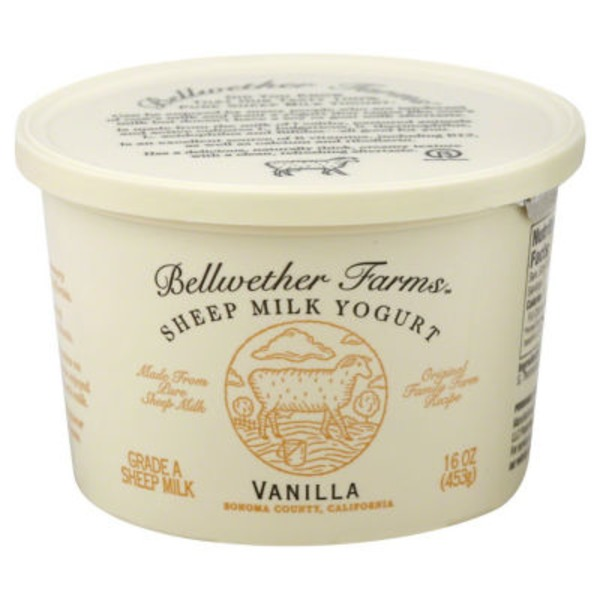 Bellwether Farms Sheep Milk Yogurt Vanilla