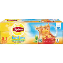 Lipton Naturally Decaffeinated Tea Bags Family Size