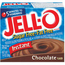 Jell-O Sugar Free & Fat Free Chocolate Instant Pudding & Pie Filling