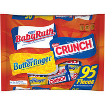 Baby Ruth Nestle Crunch and Butterfinger Fun Size Candy Bars