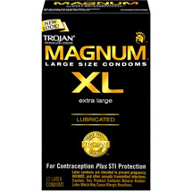 Trojan Magnum XL Lubricated Latex Condoms