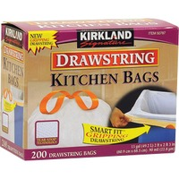 Kirkland Signature Drawstring 13 Gallon Kitchen Bags