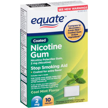 Equate Cool Mint Flavor Coated Nicotine Gum