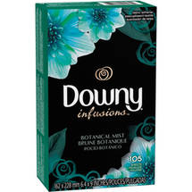 Downy Infusions Botanical Mist Fabric Softener Sheets