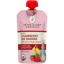 Peter Rabbit Organics Strawberry and Banana 100% Pure Fruit Snack Baby Food