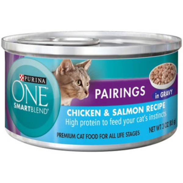 Purina One Cat Wet SmartBlend Pairings Chicken & Salmon Recipe in Sauce Cat Food