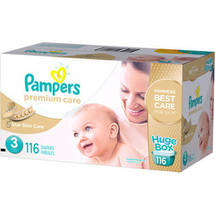 Pampers Premium Care Disposable Diapers Huge Box Size 3