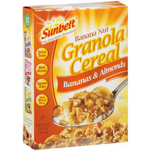 Sunbelt Banana Nut w/Bananas & Almonds Granola Cereal